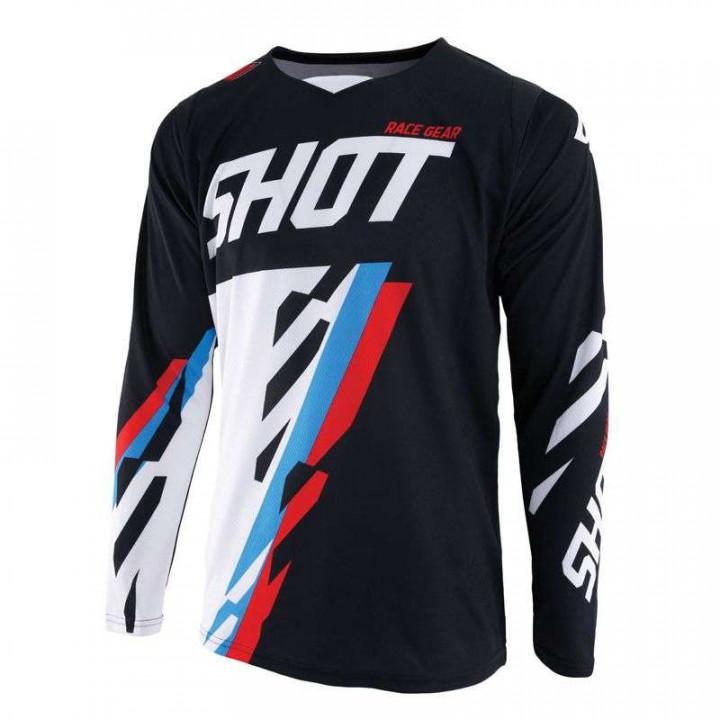 Maillot moto cross Shot CONTACT SCORE 2019 NOIR/BLEU/ROUGE